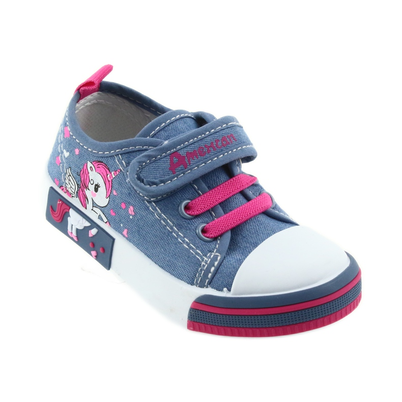 American Club Amerikaanse sneakers kinderschoenen met velcro inlegleer afbeelding 1