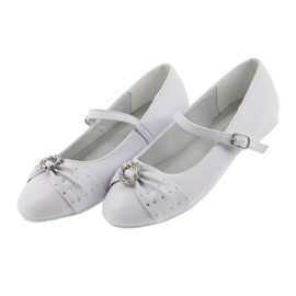 Balletpompen Communion zircons American Club 12/19 wit 3
