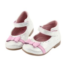 Ren But Velcro-ballerina Ren Boot 1493 DISKO wit grijs roze 4