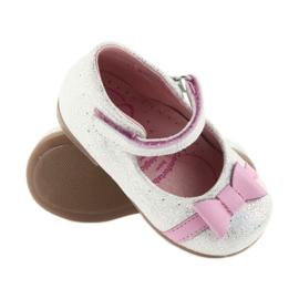 Ren But Velcro-ballerina Ren Boot 1493 DISKO wit grijs roze 3