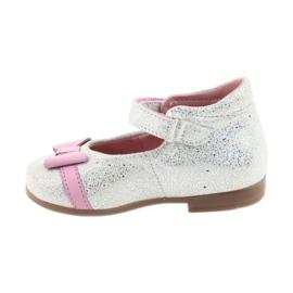 Ren But Velcro-ballerina Ren Boot 1493 DISKO wit grijs roze 2