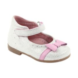 Ren But Velcro-ballerina Ren Boot 1493 DISKO wit grijs roze 1
