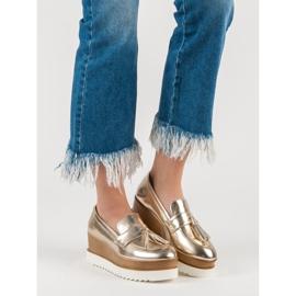 Corina Gouden Loafers op Wedge geel 1