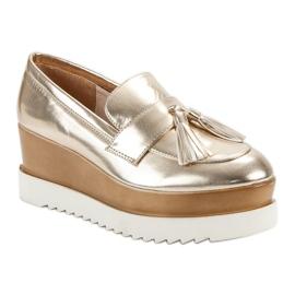 Corina Gouden Loafers op Wedge geel 4