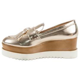 Corina Gouden Loafers op Wedge geel 5