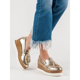 Corina Gouden Loafers op Wedge geel 2
