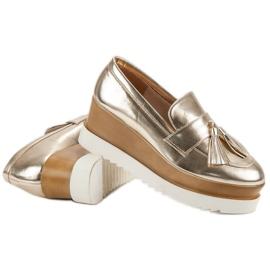 Corina Gouden Loafers op Wedge geel 6