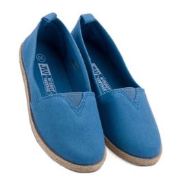 Kinder espadrilles blauw 1