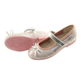 Ballerina's met boog van American Club GC18 grijs roze 4