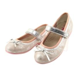 Ballerina's met boog van American Club GC18 grijs roze 3