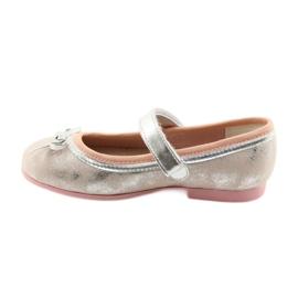 Ballerina's met boog van American Club GC18 grijs roze 2