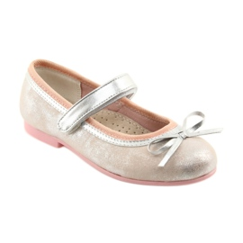 Ballerina's met boog van American Club GC18 grijs roze 1