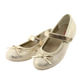Ballerina's met boog van American Club GC18 bruin geel 3
