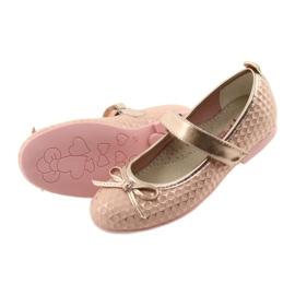 Ballerinas meisjesclub American Club GC16 geel roze 4