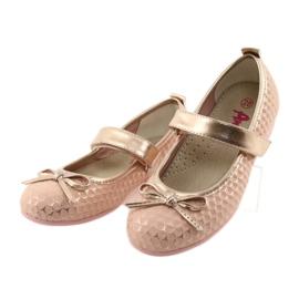 Ballerinas meisjesclub American Club GC16 geel roze 3
