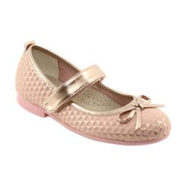 Ballerinas meisjesclub American Club GC16 geel roze 1