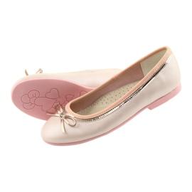Ballerina's met een strik roze parel American Club GC14 / 19 goud 4