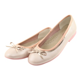 Ballerina's met een strik roze parel American Club GC14 / 19 goud 3