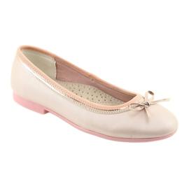 Ballerina's met een strik roze parel American Club GC14 / 19 goud 1