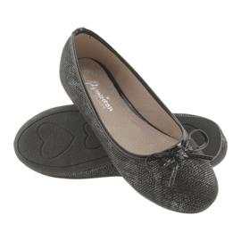 Ballerina's meisjes American Club LU17 zwart grijs 4