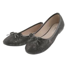 Ballerina's meisjes American Club LU17 zwart grijs 3