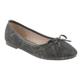 Ballerina's meisjes American Club LU17 zwart grijs 1