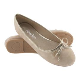 American Club Ballerina's meisjesclub American LU17 beige goud 4
