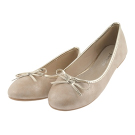 American Club Ballerina's meisjesclub American LU17 beige goud 3