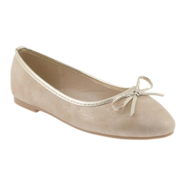 American Club Ballerina's meisjesclub American LU17 beige goud 1