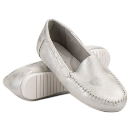 Goodin Comfortabele mocassins grijs 1