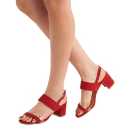 Ideal Shoes Modieuze damessandalen rood 2