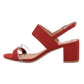 Ideal Shoes Modieuze damessandalen rood 1