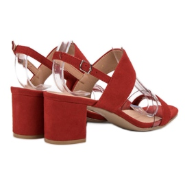Ideal Shoes Modieuze damessandalen rood 5