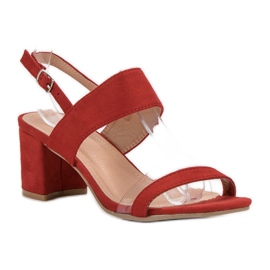 Ideal Shoes Modieuze damessandalen rood 6