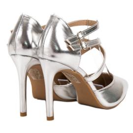 Kylie Shiny Fashion Studs grijs 5