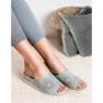 Goodin Opengewerkte slippers grijs 6