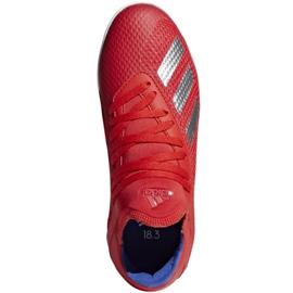 Binnenschoenen adidas X 18.3 In Jr BB9396 rood rood 1