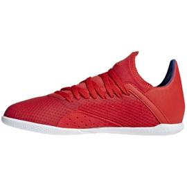 Binnenschoenen adidas X 18.3 In Jr BB9396 rood rood 2