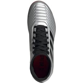 Voetbalschoenen adidas Predator 19.3 Fg Jr G25795 zilver grijs / zilver 2
