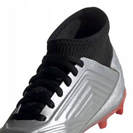 Voetbalschoenen adidas Predator 19.3 Fg Jr G25795 zilver grijs / zilver 3