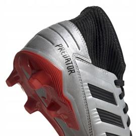 Voetbalschoenen adidas Predator 19.3 Fg Jr G25795 zilver grijs / zilver 4