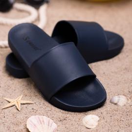 Seastar Navy Slippers blauw 1