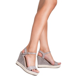 Seastar Grijze Espadrilles sandalen grijs 1