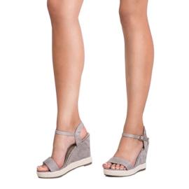 Seastar Grijze Espadrilles sandalen grijs 2