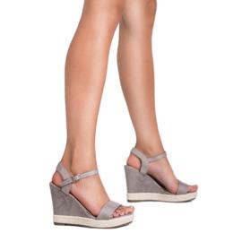 Seastar Grijze Espadrilles sandalen grijs 4