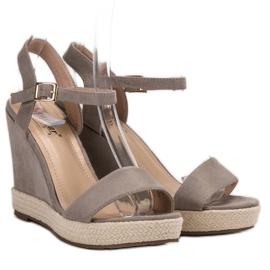 Seastar Grijze Espadrilles sandalen grijs 3