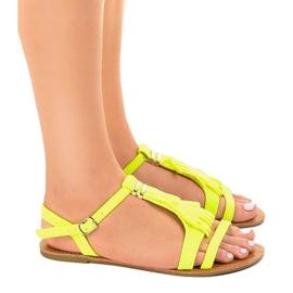 Gele platte sandalen met gesp WL137-1 geel 2