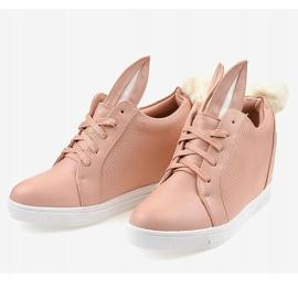 Roze konijnen sneakers H6211-11 2