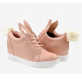 Roze konijnen sneakers H6211-11 3