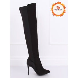 Zwarte dij-hoge laarzen zwart 0H010 zwart 1